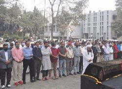 জাতীয় প্রেস ক্লাবে আবুল মকসুদের জানাজা