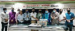 ডিআরইউ'র সদস্যদের স্বেচ্ছাসেবক লীগের স্বাস্থ্য সুরক্ষা সামগ্রী প্রদান